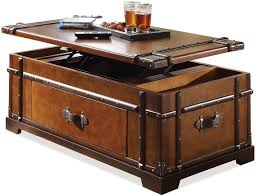 latitudes steamer trunk lift top coffee table by riverside mikes