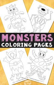 monsters halloween coloring pages kids itsy bitsy fun