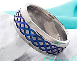 titanium celtic wedding bands mens celtic ring etsy