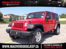 white jeep wrangler for sale ontario 2015 jeep wrangler unlimited sport newmarket ontario maciver