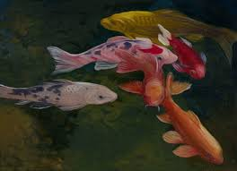 saatchi art artist syuzanna khanjyan painting koi pond art