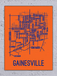 gainesville map gainesville florida map canvas posters