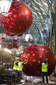 Christmas Decorations For A Large Tree by Behind The Scenes As Covent Garden Is Decked Out In Giant