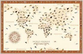 world animals map kids wall mural rand mcnally store world animals map kids wall mural