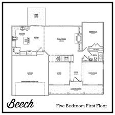 Five Bedroom Floor Plan The Beech U2013 2 810 Ft The Preserve Neighborhoods