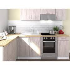 cuisine d angle pas cher obi cuisine complète d angle l 280 cm décor chêne san remo mat