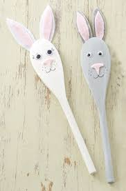 how to make easter bunny spoon puppets hobbycraft blog