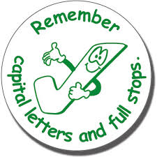 remember capital letters u0026 full stops pre inked stamper