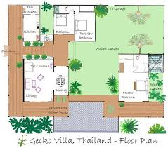 floor plan layout of the thailand holiday rental gecko villa