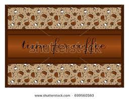 coffee shop background design banner design coffee shop restaurant menu stock vector 699560560