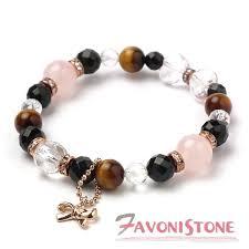 rose stone bracelet images Favoni stone rose quartz 8 onyx crystal power stone bracelets jpg