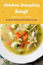 chicken dumpling soup framed cooks