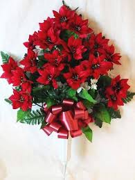 christmas flower arrangements for cemeteries and graves