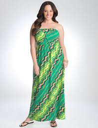 Lane Bryant Formal Wear Plus Size Strapless Geo Maxi Dress By Lane Bryant Lane Bryant