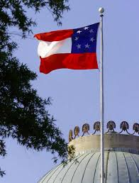 American Flag With 13 Stars In A Circle Confederate Flag Quietly Flies Atop Nc Capitol 2 Days A Year