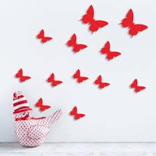 Best Online Shopping For Home Decor Vivid Butterfly Wall Sticker Decor Online Vivid Butterfly Wall