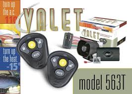 563t your valet alarm w remote car starter