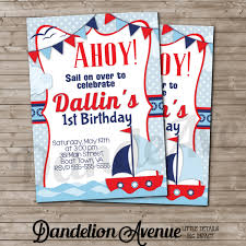 graphic design birthday invitations nautical birthday invitations marialonghi com