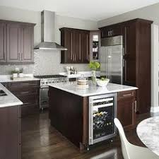 Brown Subway Tile Backsplash like the gas stove oven i also like the light floors with the