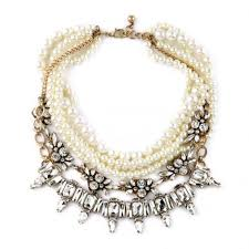 chunky pearl bib necklace images Wholesale chunky statement multi row pearl rhinestone bib necklace jpg