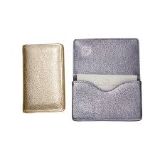 Embossed Business Card Holder Leather Business Card Case Leather Business Card Holder