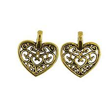 necklace charms wholesale images Fenteer 50 pieces wholesale gold tone hollow heart jpg