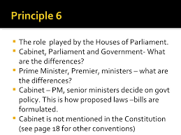 What Is The Role Of Cabinet Members The Australian Parliamentary System