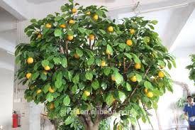 high quanlity real like artificial big tree with orange fruit for
