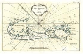 Map Of Bermuda Fairwinds Antique Maps Item Gg2544 Carte Des Isles Bermudes