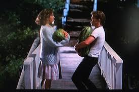 baby u0026 neil kellerman holding water melons dirty dancing dirty