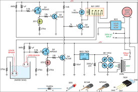 automatic water tank filler schematic circuit diagram