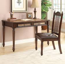 Prime Brothers Furniture by Coaster Traditional Table Desk U0026 Side Chair Set Value City
