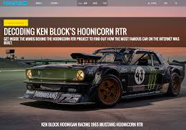 hoonigan mustang decoding ken block u0027s hoonicorn mustang andy blackmore design