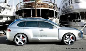 porsche cayenne turbo vs turbo s concept flashback 2005 rinspeed chopster vs porsche cayenne turbo s