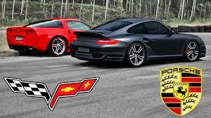 corvette zl6 corvette c6 z06 vs porsche 997 turbo 30 180 mp h race x4