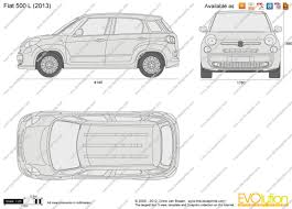 the blueprints com vector drawing fiat 500 l