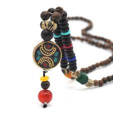beaded necklace styles images Beautiful handmade nepal mala prayer beads style beaded necklace jpg