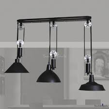 black 3 light pulley large pendant light beautifulhalo com