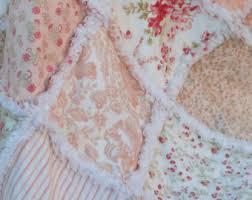 floral rag quilt etsy
