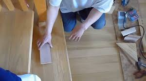 Laying Laminate Flooring On Stairs Hardwood Floor Part 4 How To Stair And Handrail Spiral Curved