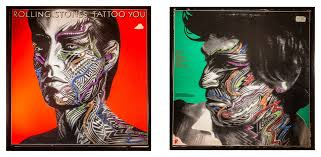 glittered rolling stones tattoo you album cover contemporary