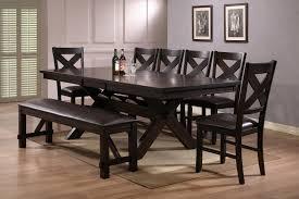 baker street dining table crown mark crown mark havana 8 piece rectangular trestle dining set