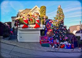 crazy christmas tree lights sf s crazy christmas lights funcheapsf com