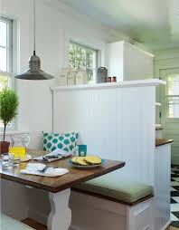 Beach Cottage Kitchen by Kitchen Bench Seating Dining Room Beach With Banquette Beach
