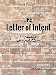 Intent To Lease Letter by Sent Letter Of Intent Dream A Latte