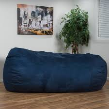 larson faux suede 8 foot lounge beanbag chair by christopher