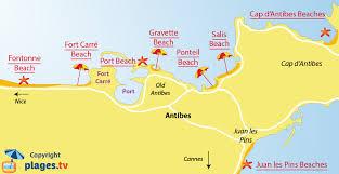 map of antibes beaches in antibes 06 seaside resort of antibes