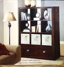 bookcase bayside furnishings 9 cube room divider with 2 drawers