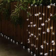 innootech 50 led indoor fairy lights solar outdoor peach string