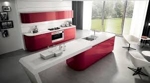 Red Gloss Kitchen Cabinets High Gloss Kitchen Modern Design Normabudden Com